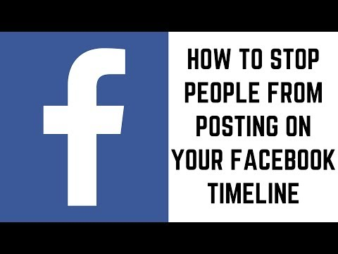 How To Stop Someone From Posting On Your Facebook Timeline