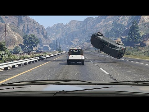 GTA 5 EPIC CAR CRASHES AND ROAD RAGE COMPILATION | Dashcams, CCTV thumbnail
