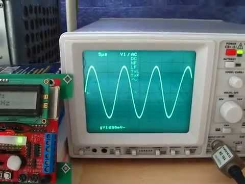AD9850 & ATmega32 signal generator 40MHz + code