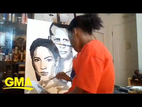 Donnie McClurkin - WATCH! 12-year-old hopes to gift J.Lo the epic portrait he painted