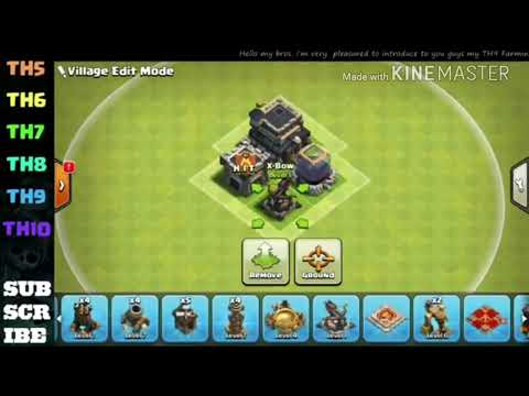 Th 9 base . Loot protective and for pushing trophies