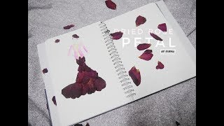 ART JOURNAL | Dried Rose Petal