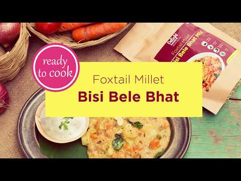 Millet Recipes - How to cook Foxtail Millet Bisi Bele Bhat at home. |Delight Foods Recipes