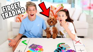 OUR PUPPY DECIDES OUR FIDGET TRADING!! The Empire Family