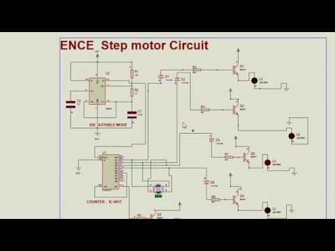 diagram of a dc motor step motor ic 555 ic 4017 youtube #5