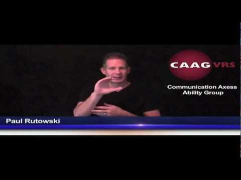 Video Relay Service Paul Rutowski on iDeafnews for CAAGVRS