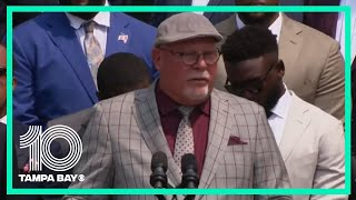 Watch: Bruce Arians gives remarks during Super Bowl White House celebration