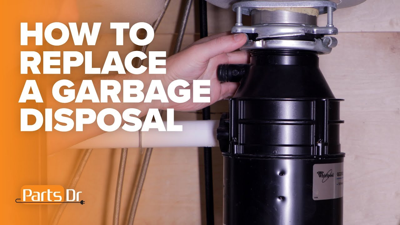 how to replace a whirlpool kitchen aid garbage disposal