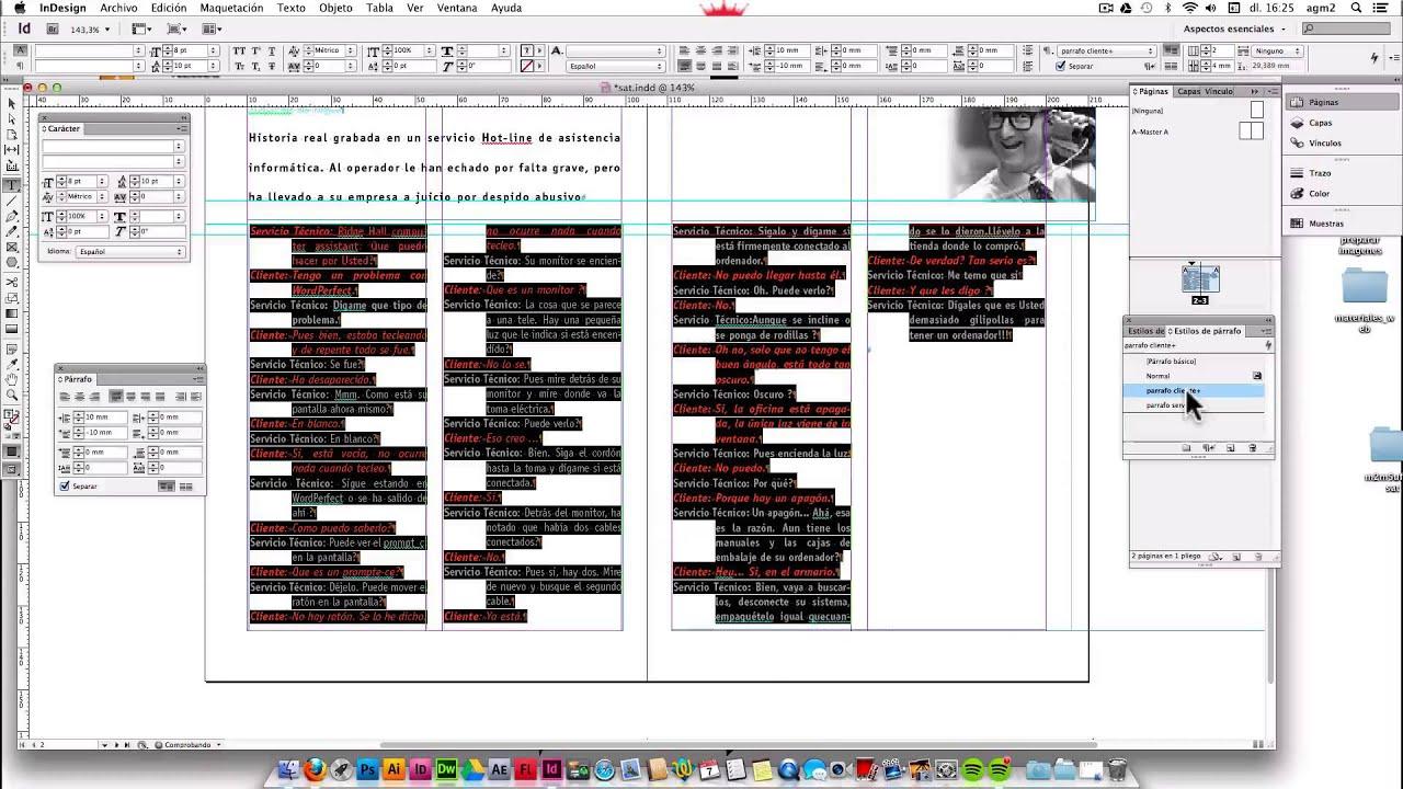 Aplicar estilos de texto y de parrafo en Indesign - YouTube