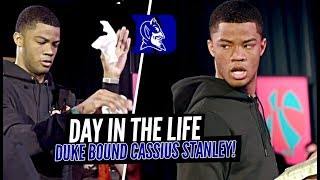 Cassius Stanley GOT THEM HANDS!! Day In The Life w/ The DUKE COMMIT at JBC!!