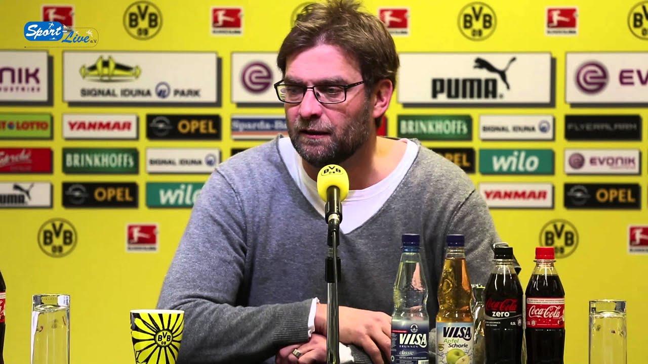 BVB Pressekonferenz vom 25. Februar 2013 vor dem DFB Pokal Viertelfinale zwischen dem FC Bayern und Borussia Dortmund mit Jürgen Klopp
