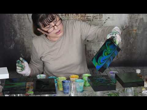 Resin Art Using Oil Paint Part One