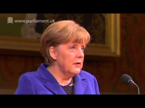 German Chancellor, Angela Merkel, addresses Parliament