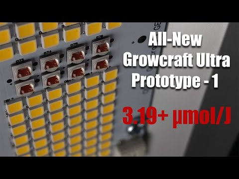ChilLED Growcraft Ultra Prototype 1 – 3.19+ µmol/J - LED Grow Light