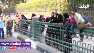 الأمن يمنع مسيرة أهالي تل العقارب من دخول ميدان التحرير .. فيديو