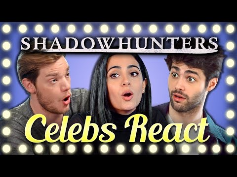 Thumbnail: CELEBS REACT TO TRY TO WATCH THIS WITHOUT LAUGHING OR GRINNING (Shadowhunters Cast)