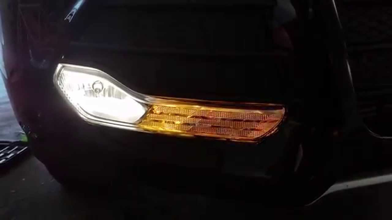 hight resolution of 2013 2016 ford escape testing front turn signal fog light after changing bulbs