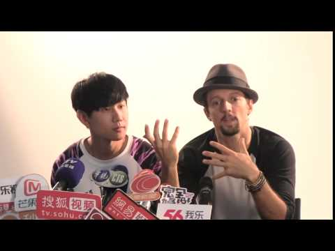 "JJ Lin 林俊傑 -  ""I Am Alive"" Featuring Jason Mraz MV Press Conference: Part 5 Press Interview"