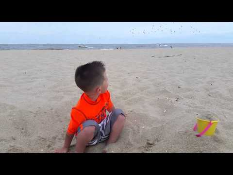 Grant in the sand