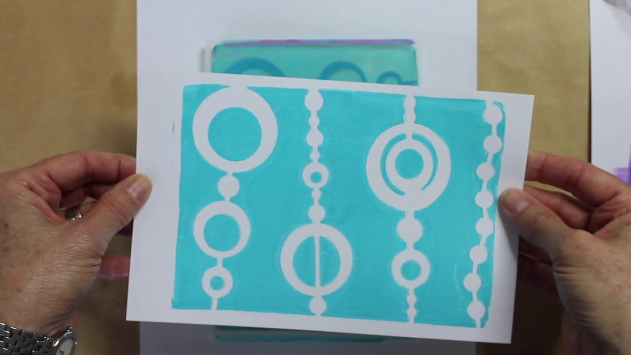 Gelli Arts® Bead Stencil - Designed to print with 5x7 Gelli Arts® printing  plate