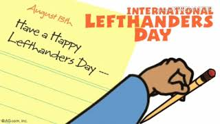 Left handers day // 13 august// 12 facts about left handers