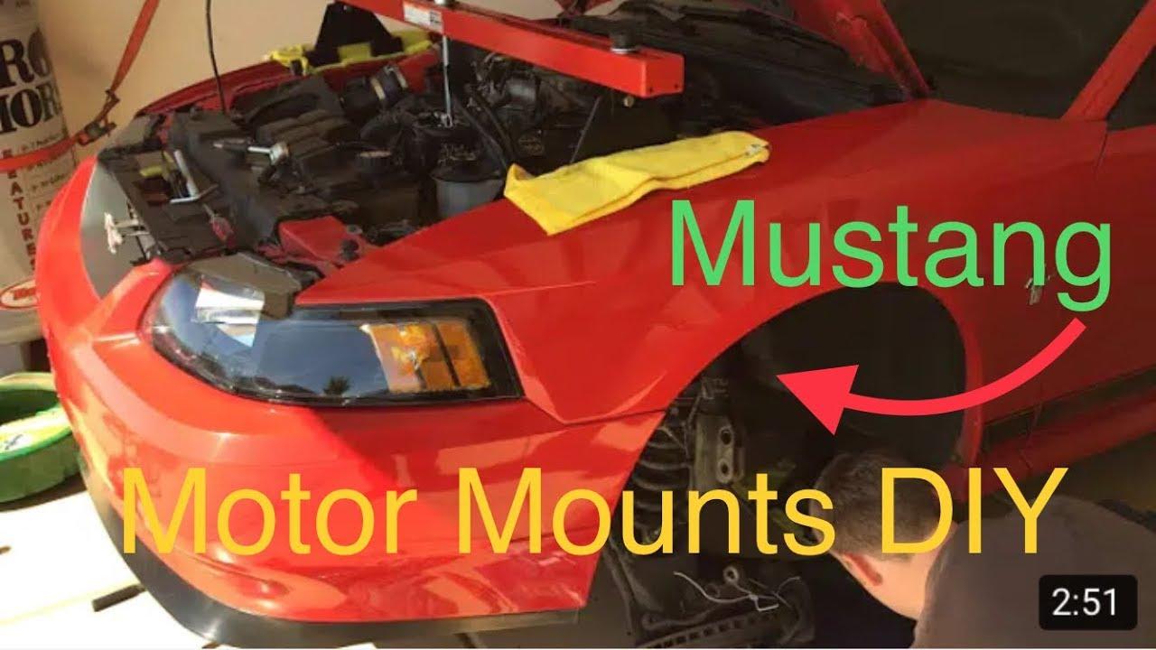 How To Change Motor Mounts Ford Mustang 1994 2004 Mach 1 Cobra Gt K Member Drop Oil Pan Gasket Youtube