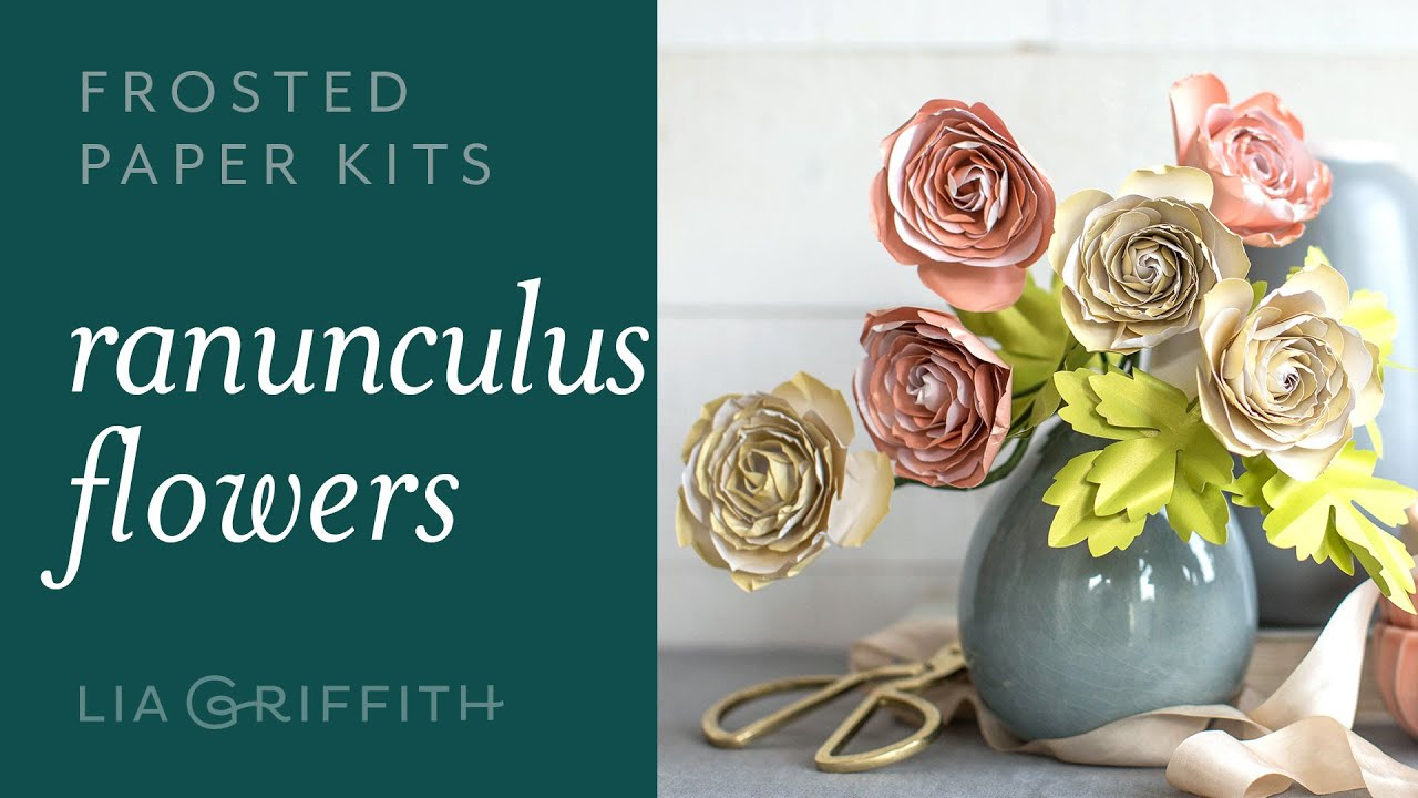 Video Tutorial: NEW Frosted Paper Ranunculus Flower Kit