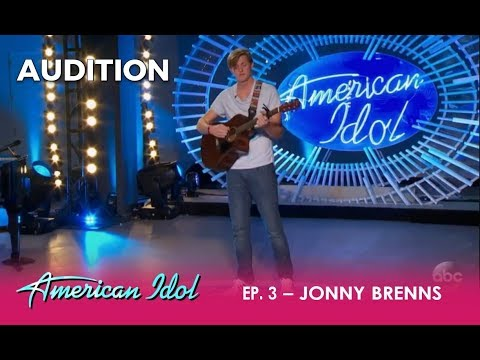 Jonny Brenns: Tall Guy SNEAKS Away From His Parents To Try For Idol | American Idol 2018