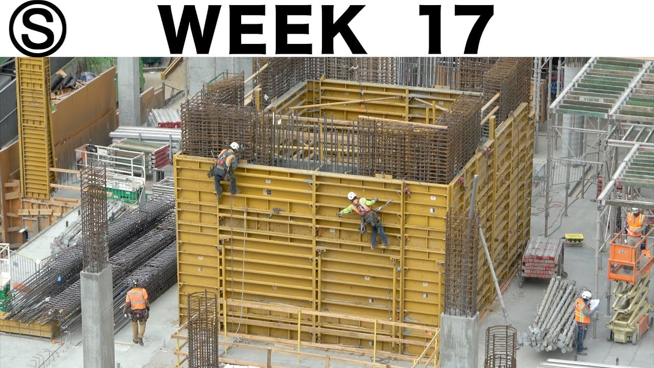 One-week construction time-lapse with closeups: Week 17 of the Ⓢ-series