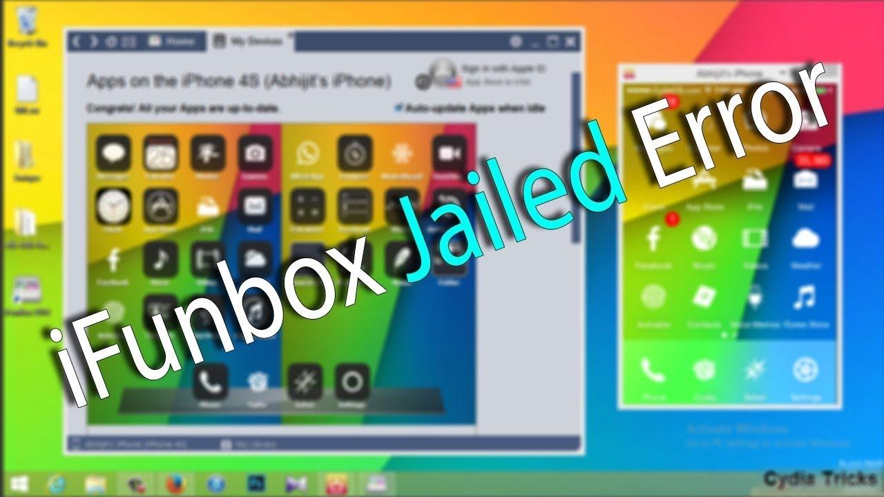 iOS7 1 iFunbox Jailed Status Error Fix