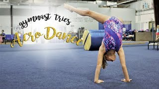 Gymnast Tries Dance Acro Tricks  Mollie SGG