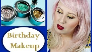 My Birthday Makeup- featuring New Stila metallic eyeshadows!!!