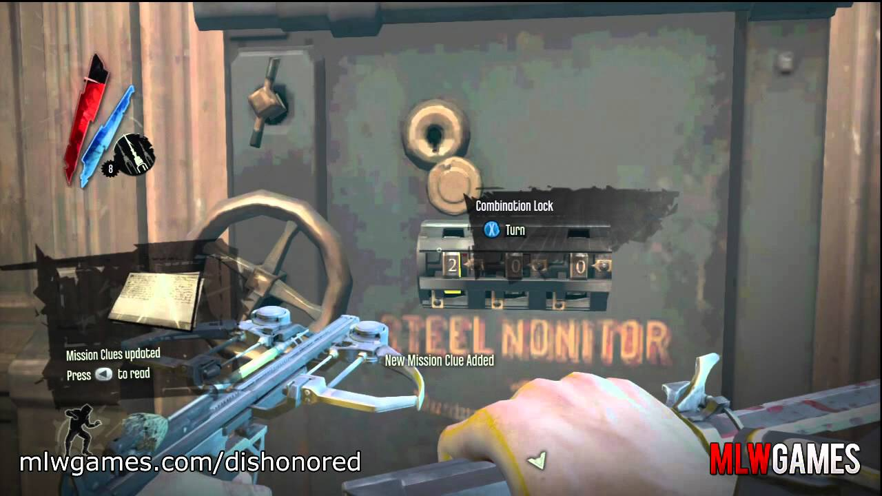 dishonored safe locations and