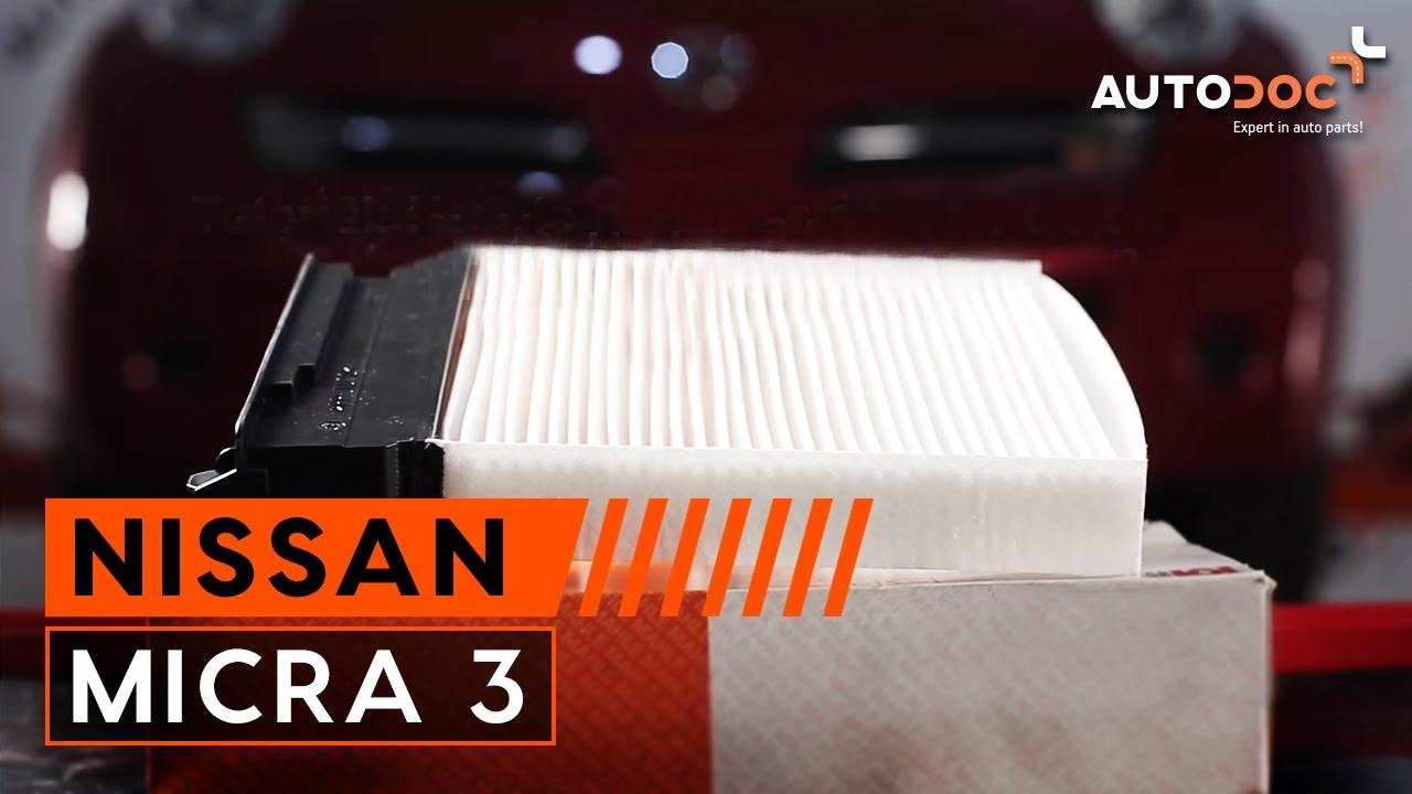 Hoe een interieurfilter vervangen op een nissan micra 3 handleiding autodoc
