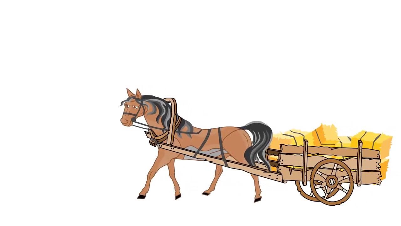 рисунки лошадь с телегой данной статье попробуем