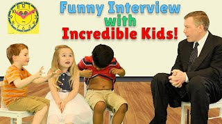 Funny Interview with Kids! What Makes You Incredible? Happy Kids Are Incredible Week!
