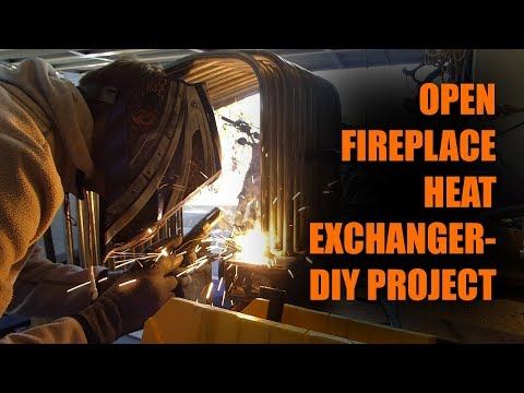 DIY Open Fireplace Heat Exchanger Project