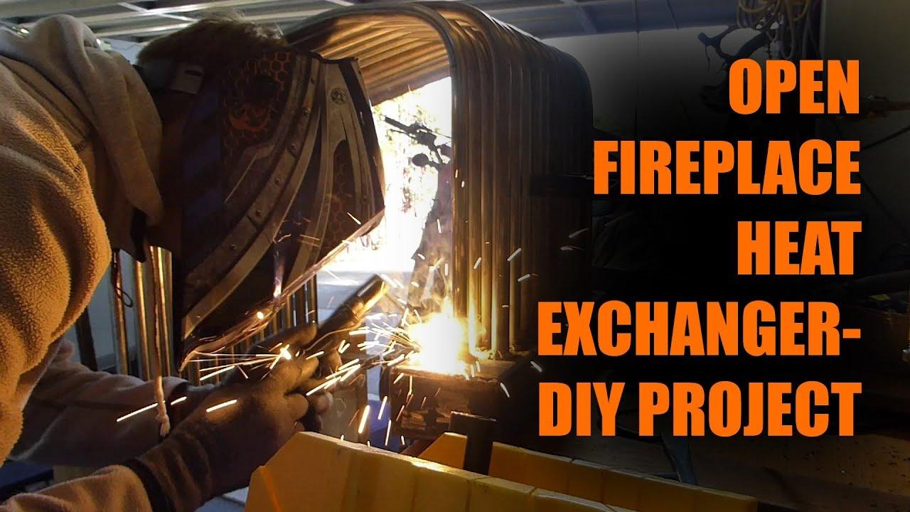Diy Open Fireplace Heat Exchanger Project Youtube