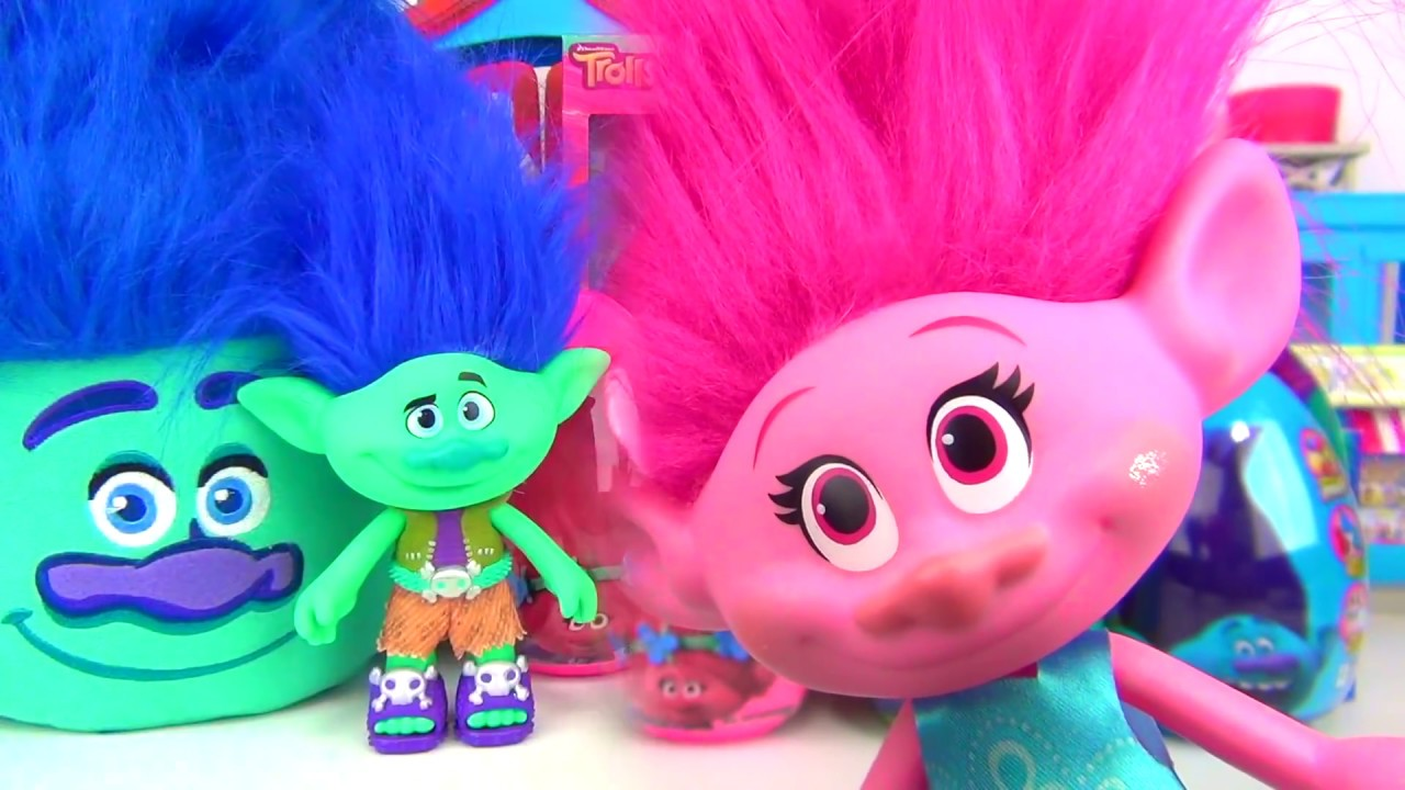 trolls easter eggs chocolates candies poppy branch basket guy diamond toy fun egg surprises tuyc