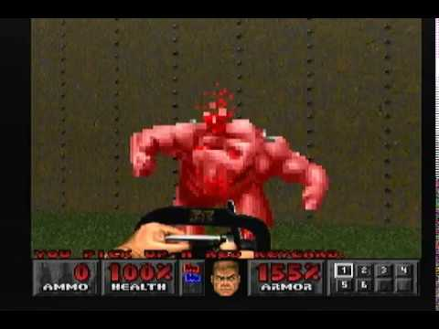 480p hd rgb doom I & II sony playstation 1 long play ultra violence