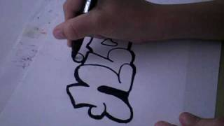 How to draw a graffiti NB