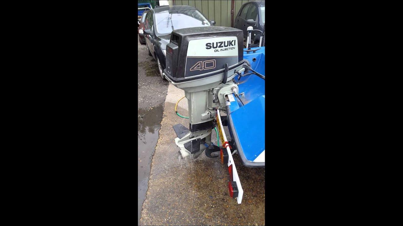 hight resolution of suzuki dt40 outboard engine flush