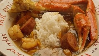 Seafood Gumbo  With Shrimp , Crab And Sausage  By Thehourglasslife.
