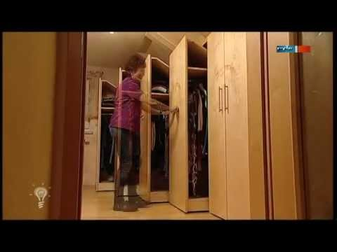 dachschr genschrank mdr einfach genial youtube. Black Bedroom Furniture Sets. Home Design Ideas