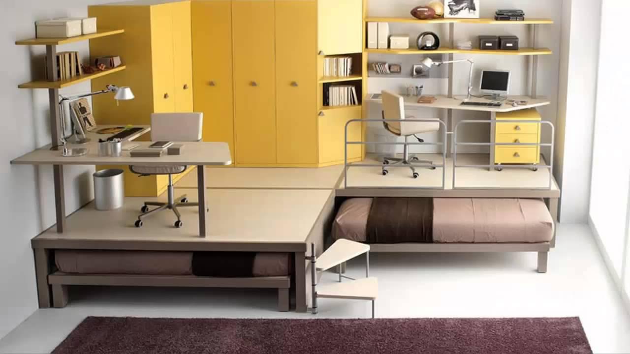 تصاميم جديدة لـ غرف نوم دورين للشباب       YouTube