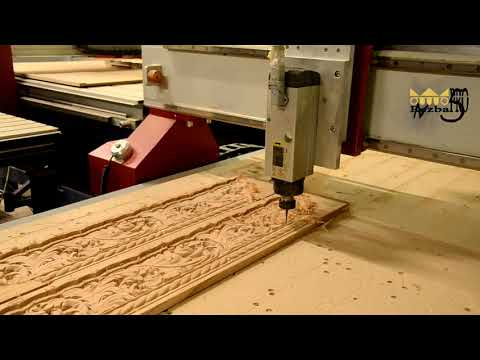 Производство резного багета из дерева на станке с ЧПУ
