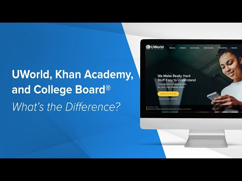 UWorld, Khan Academy, and College Board: What's the