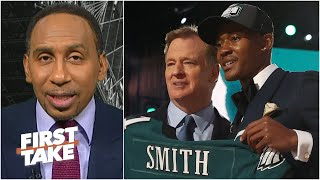 Stephen A. has a 'sneaky feeling' DeVonta Smith will impact the Eagles immediately | First Take