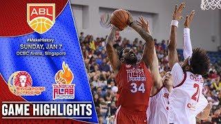 Singapore Slingers vs Tanduay Alab Pilipinas | Game Highlights | ASEAN Basketball League