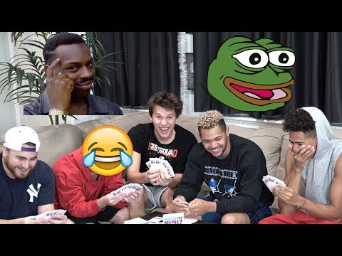 FUNNIEST CARD GAME EVER! THE MEME GAME!! #2HYPE